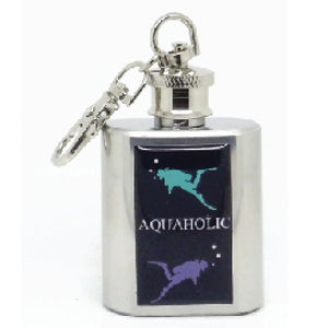 AQUAHOLIC / SCUBA DIVING - KEYRING HIPFLASK
