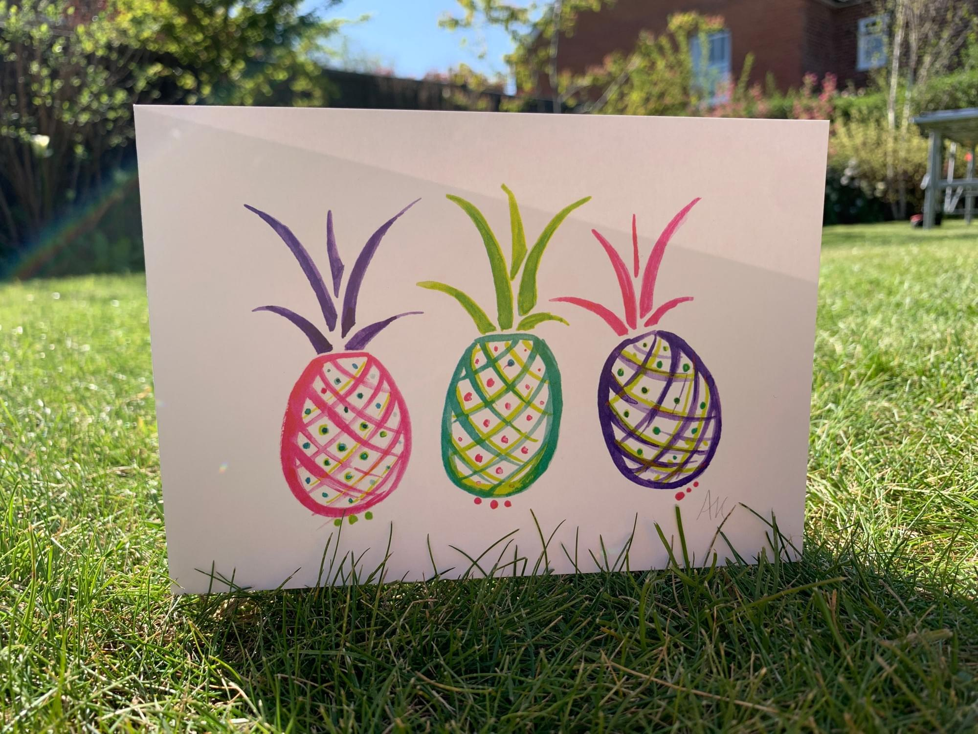 Popping pineapple card