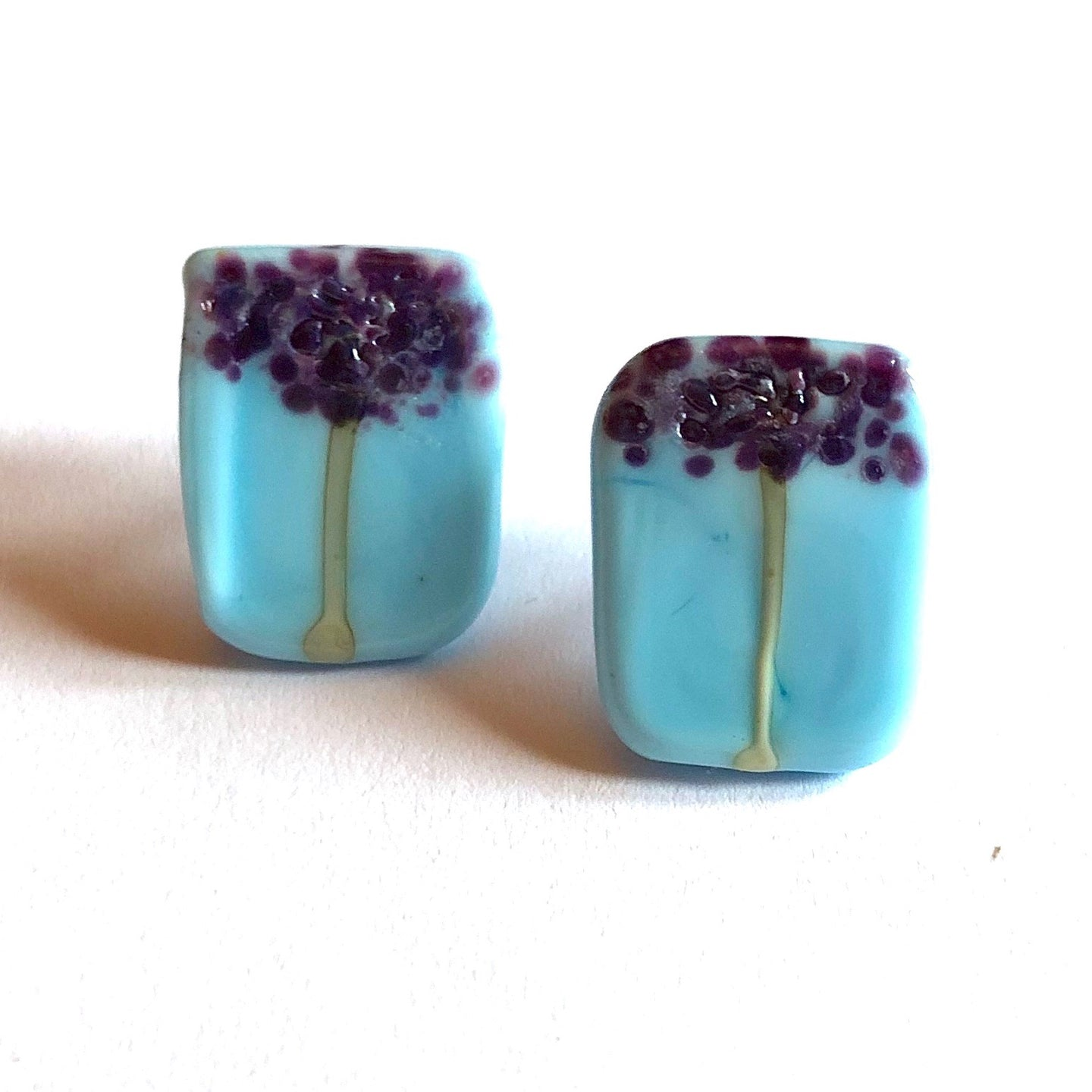 Roppangi Handmade Glass Panel Stud Earrings