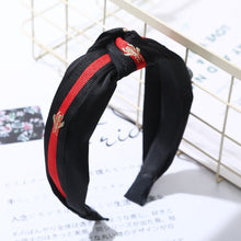 Load image into Gallery viewer, Gucci Style Bee Headband - Black