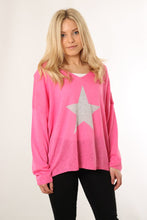 Load image into Gallery viewer, Cotton Jumper With Star Motif - Various Colours