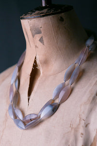 Grey Agate Faceted Marquise Flapper