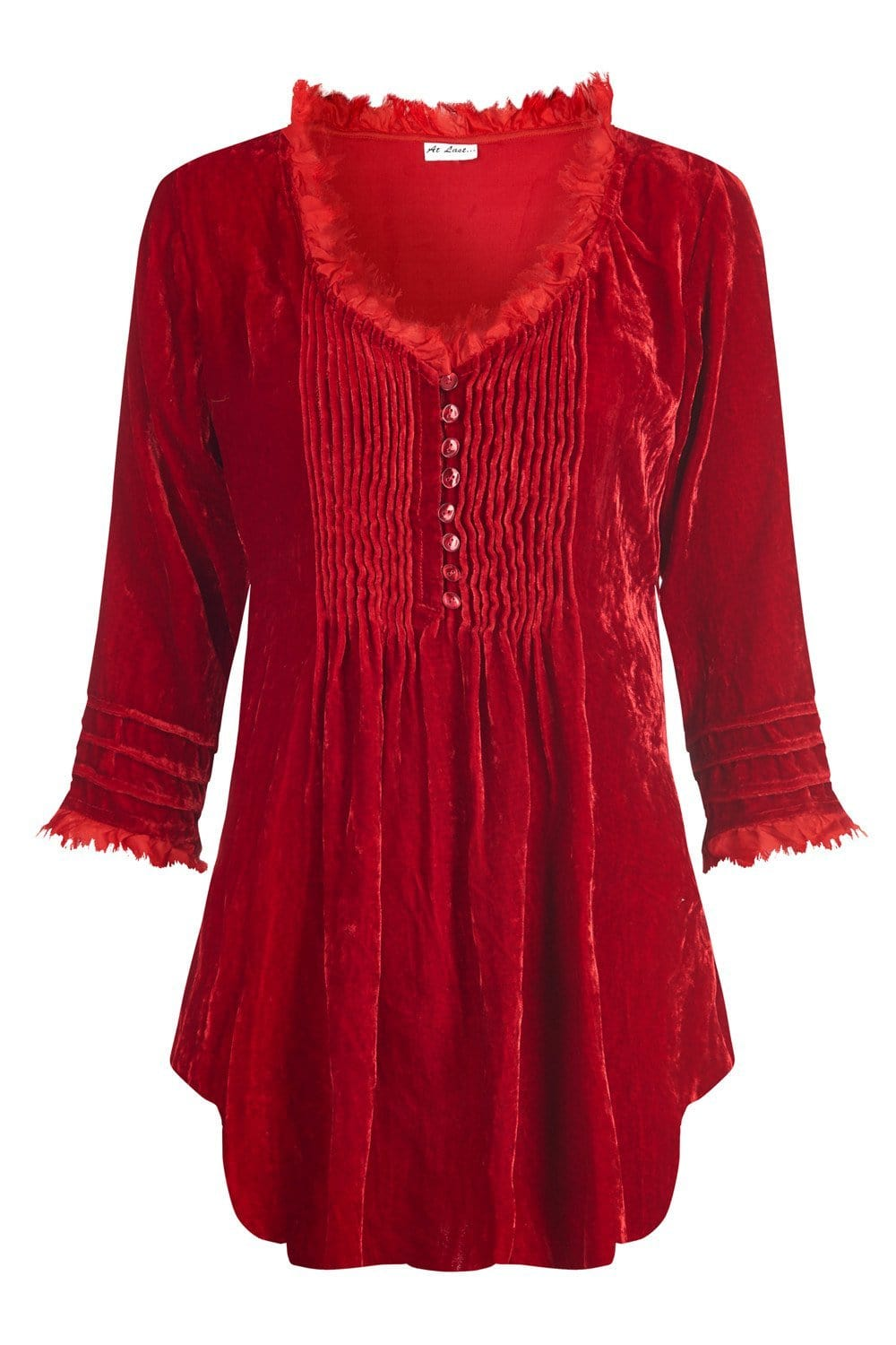 Sophie Silk Velvet shirt - Red