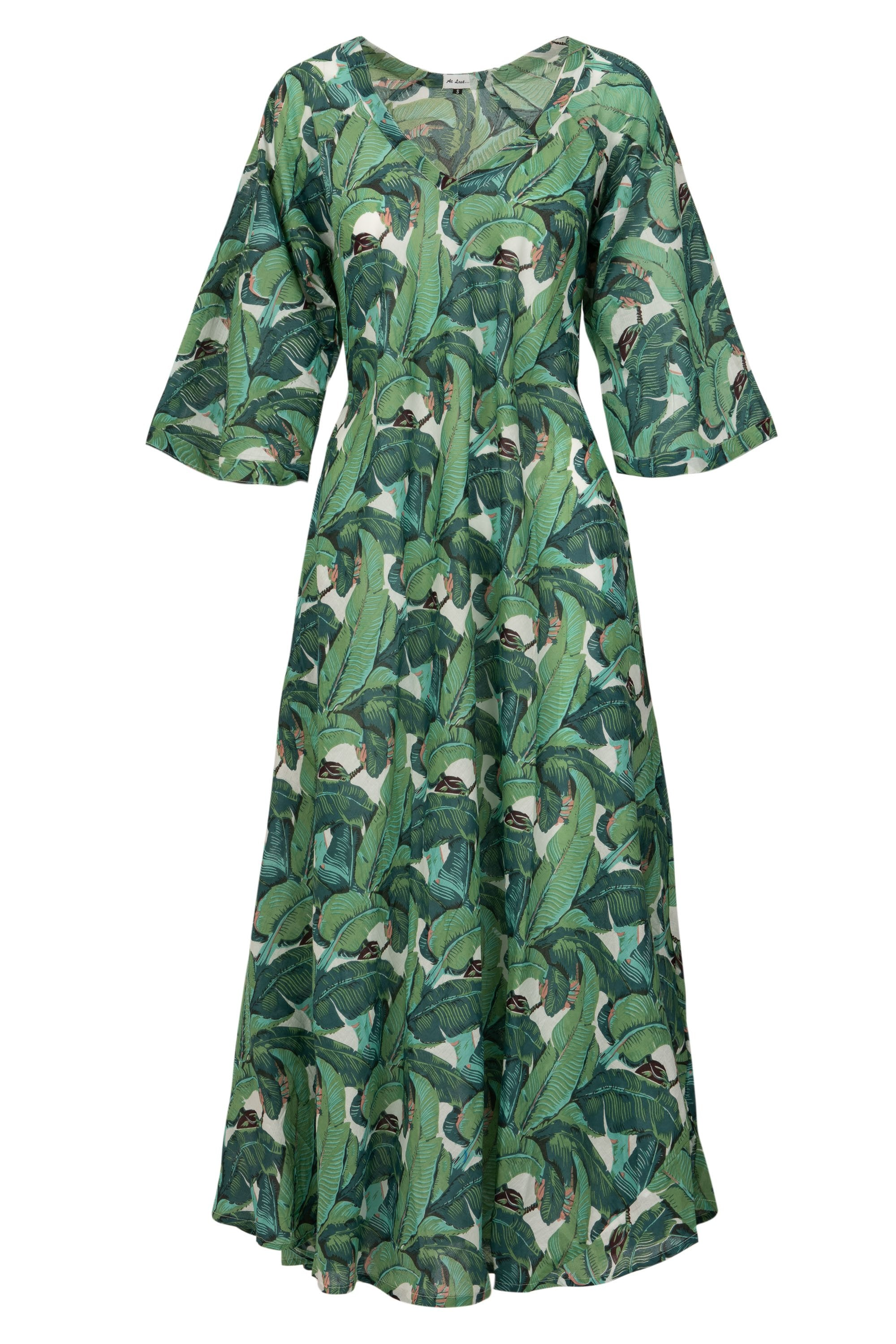 Anna Cotton Dress- Tropical