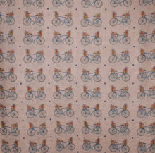 Load image into Gallery viewer, Bicycle Scarf - Basket Bike Design printed Scarf - Hand Printed in the UK - FREE personalisation