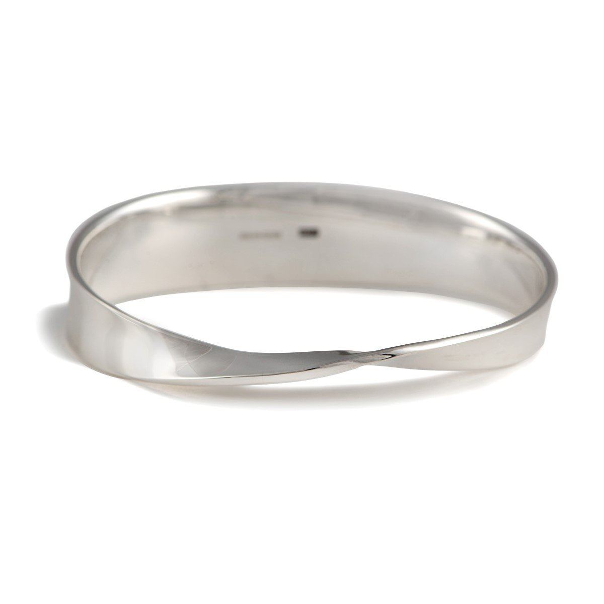 Heavy Sterling Silver Bangle With a Twist