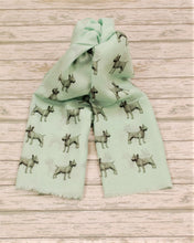 Load image into Gallery viewer, Bull Terrier scarf hand printed in the UK