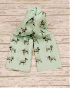 Bull Terrier scarf hand printed in the UK