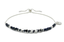 Load image into Gallery viewer, Sax Navy Gemstone & Silver Star Charm Bracelet