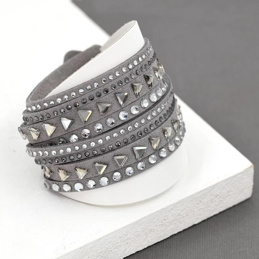 Crystal Embellished Wrap Bracelet