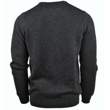 Load image into Gallery viewer, Unisex Cashmere Thick Knit V-Neck Jumper in Charcoal