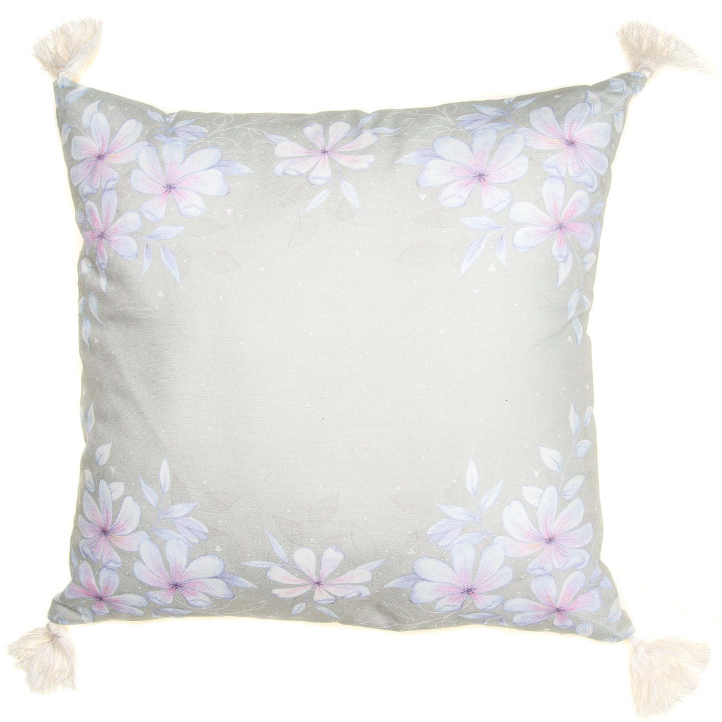 Large Green Floral Cushion