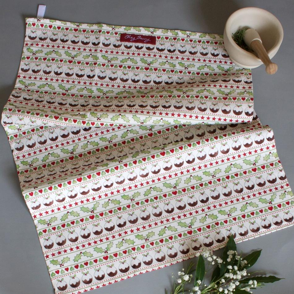 Set of Two Christmas Tea Towels