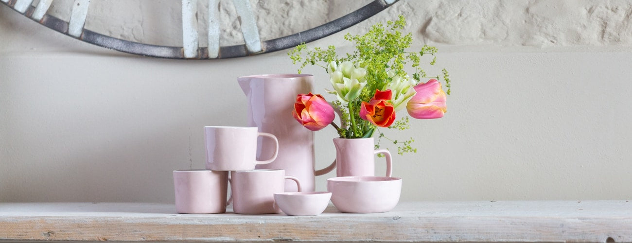 Small Pale Pink Ceramic Jug