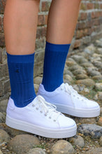 Load image into Gallery viewer, Royal Blue Bamboo Socks