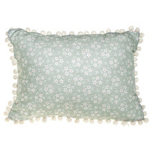 Load image into Gallery viewer, Green Ditsy Floral Cushion