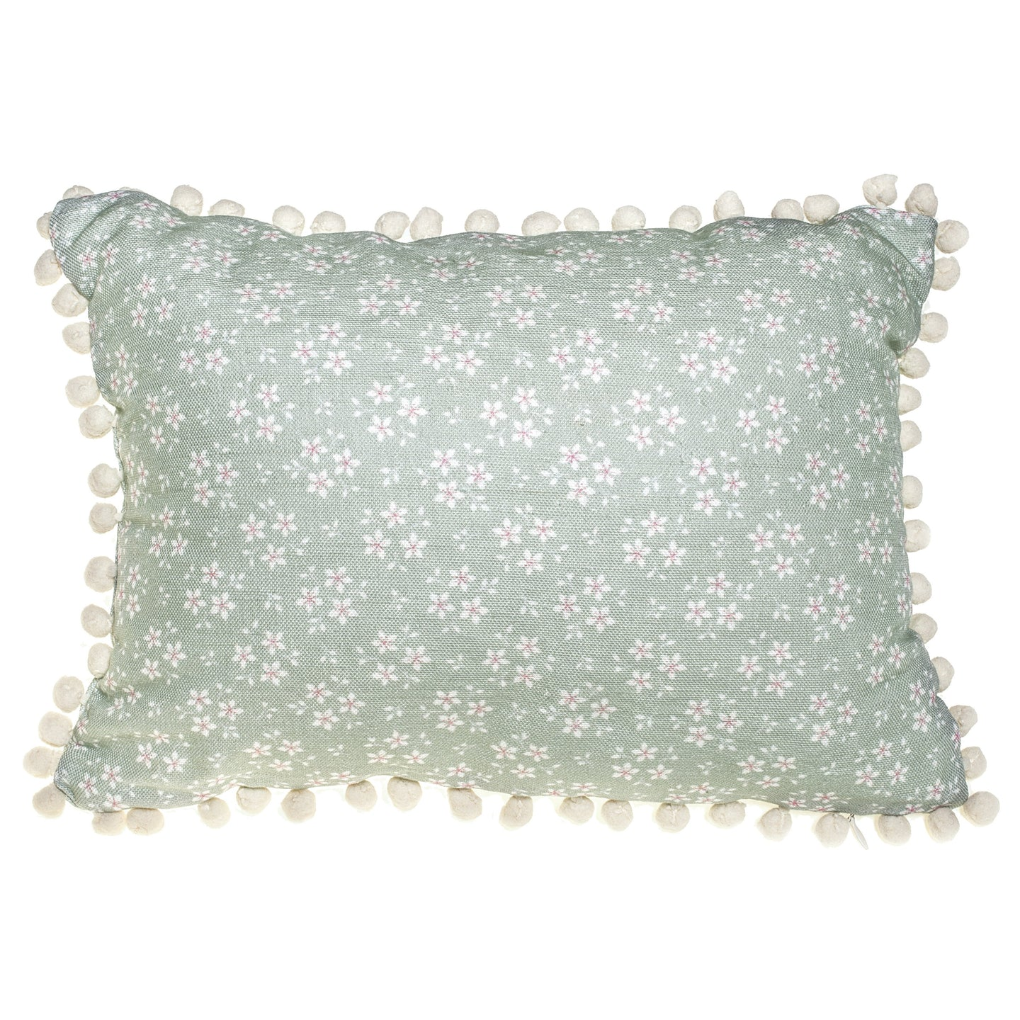 Green Ditsy Floral Cushion