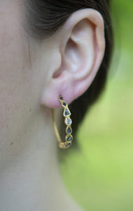 Diamond Slice Vermeil Large Hoop Earrings