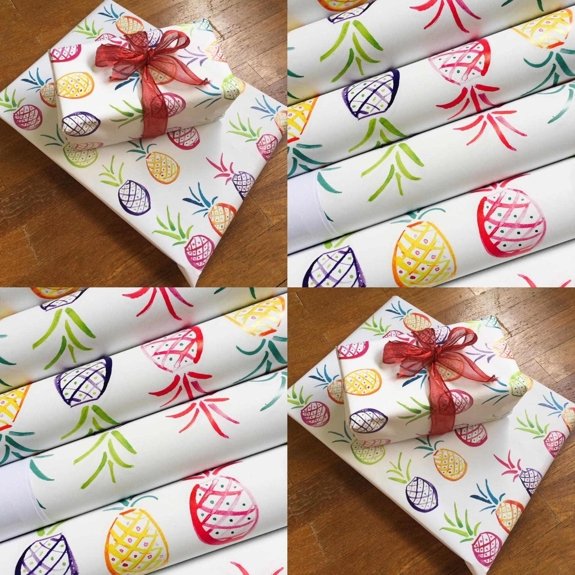 Wrapping - Popping pineapples Pack of 5