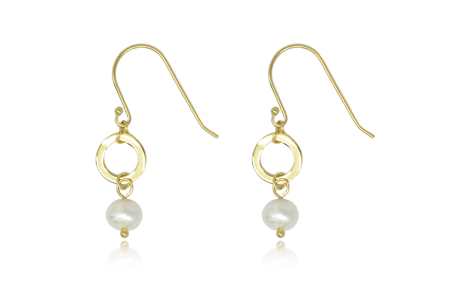 Ritter Gold Pearl & Circle Drop Earrings