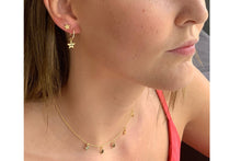 Load image into Gallery viewer, Dushku Gold Star Charm Hoop Earrings