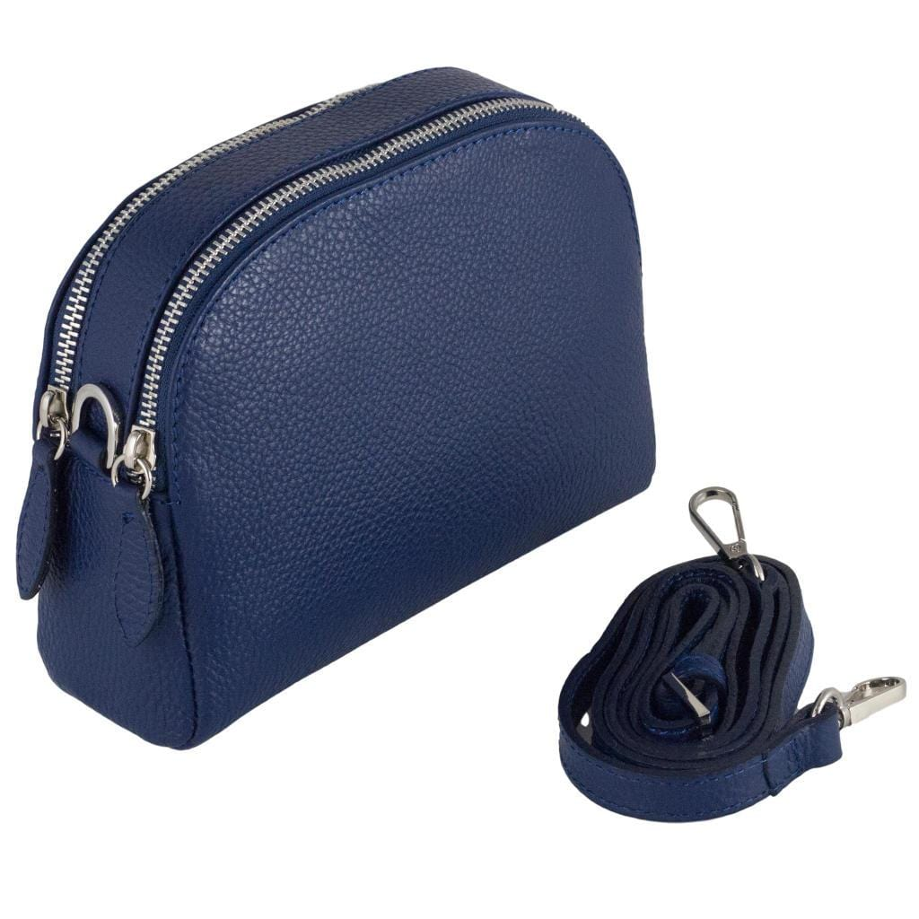 Viola cross-body clutch bag - navy blue