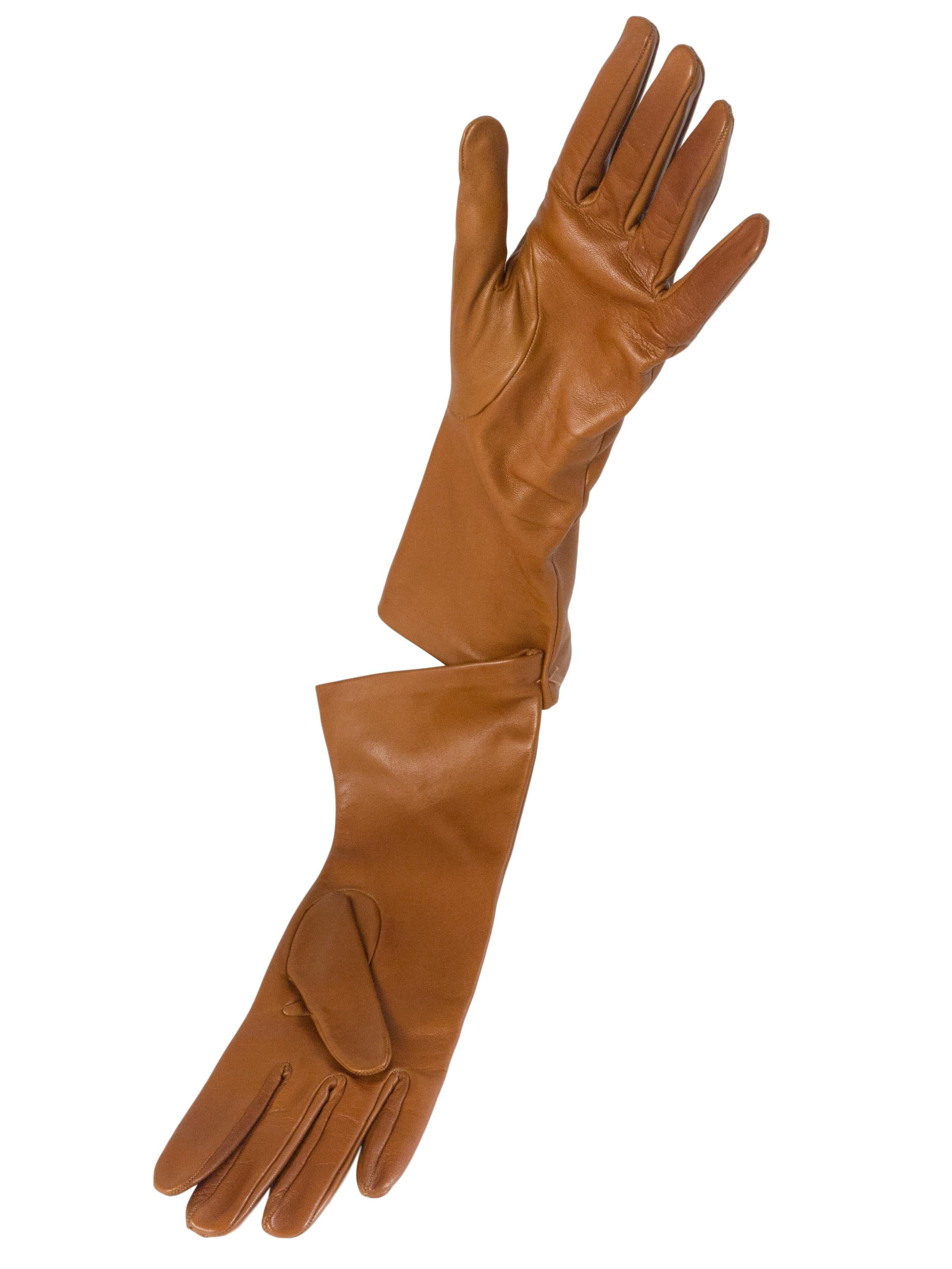 Nappa Leather Gloves - Tan