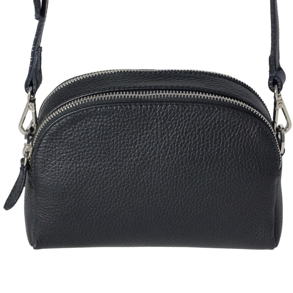 Viola cross-body clutch bag - black dollaro leather