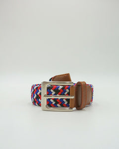 Royal Blue, Red, White and Black Zigzag