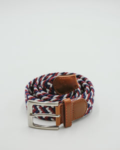 Navy, Mulberry and White Zigzag