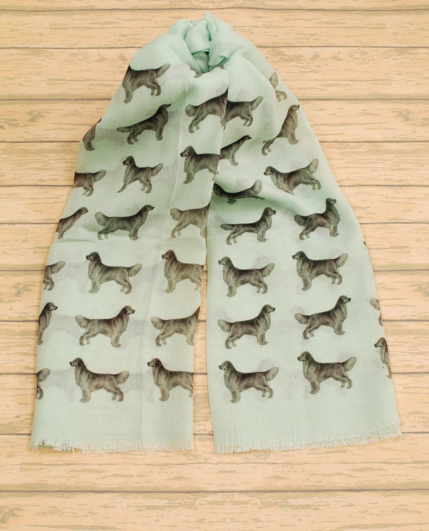 Golden Retriever scarf hand printed in the UK