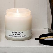 Load image into Gallery viewer, grapefruit & basil travel candle