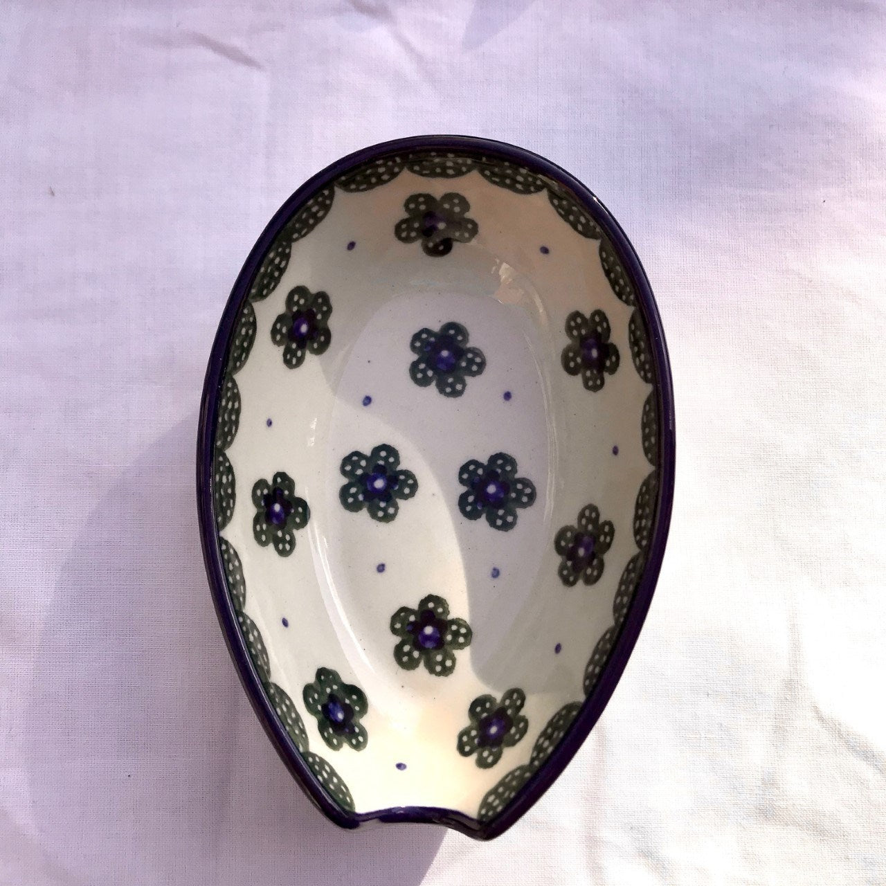 Green Flower Spoon Rest