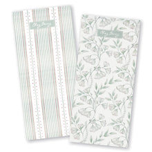 Load image into Gallery viewer, Sage Green Damask Tea Towel