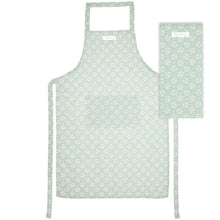 Load image into Gallery viewer, Sage Green Floral Apron and Tea Towel Set