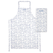 Load image into Gallery viewer, Grey Damask Apron and Tea Towel Set