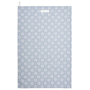 Slate Grey Floral Tea Towel
