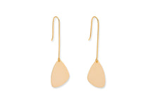 Load image into Gallery viewer, Hall Gold Paddle Drop Earrings