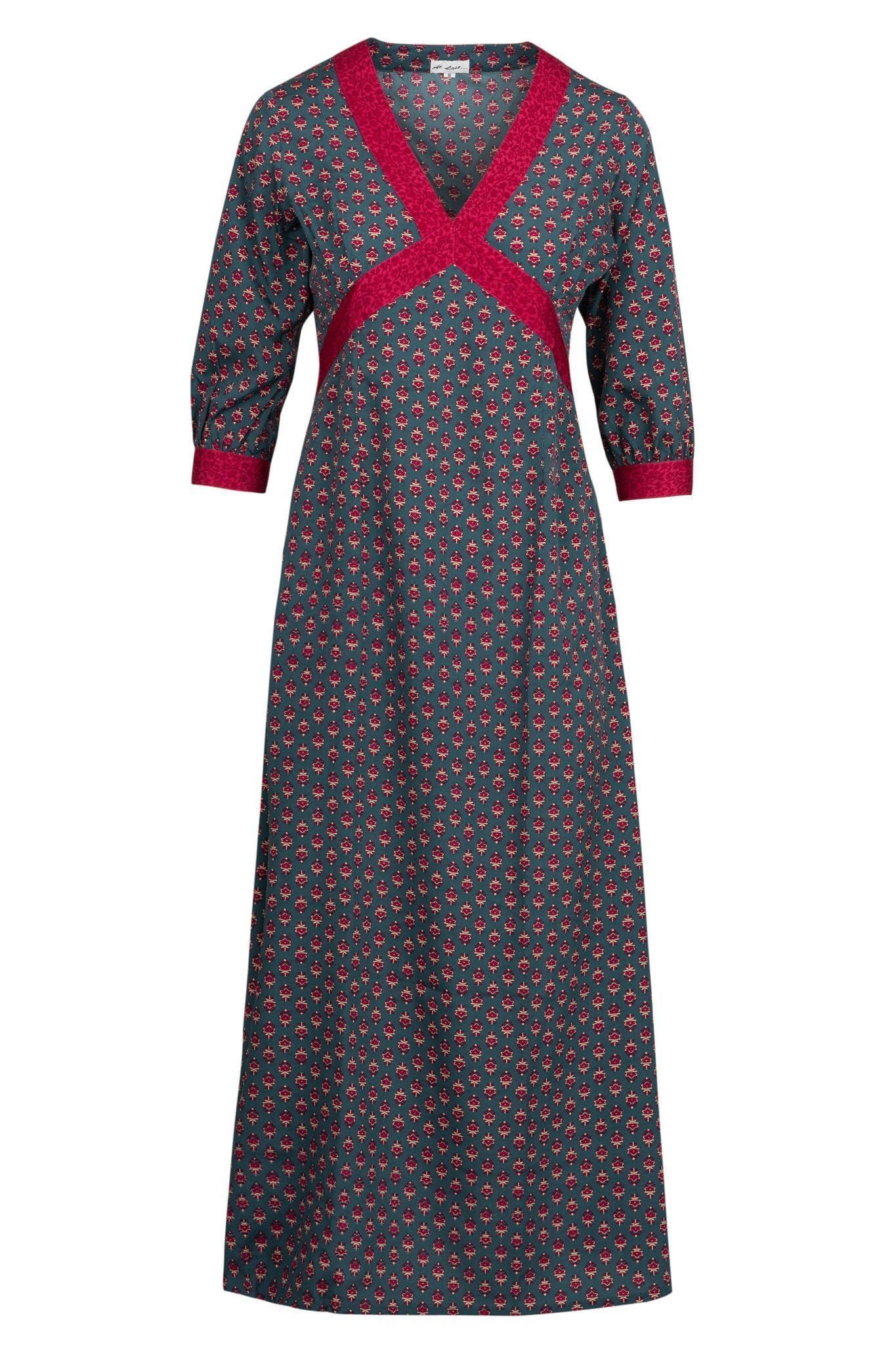 Tabitha Dress- Smokey and Damson
