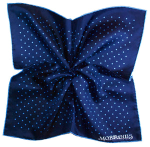Navy with Blue Dots