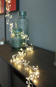 Crystal Cluster Fairy Lights, Battery Operated