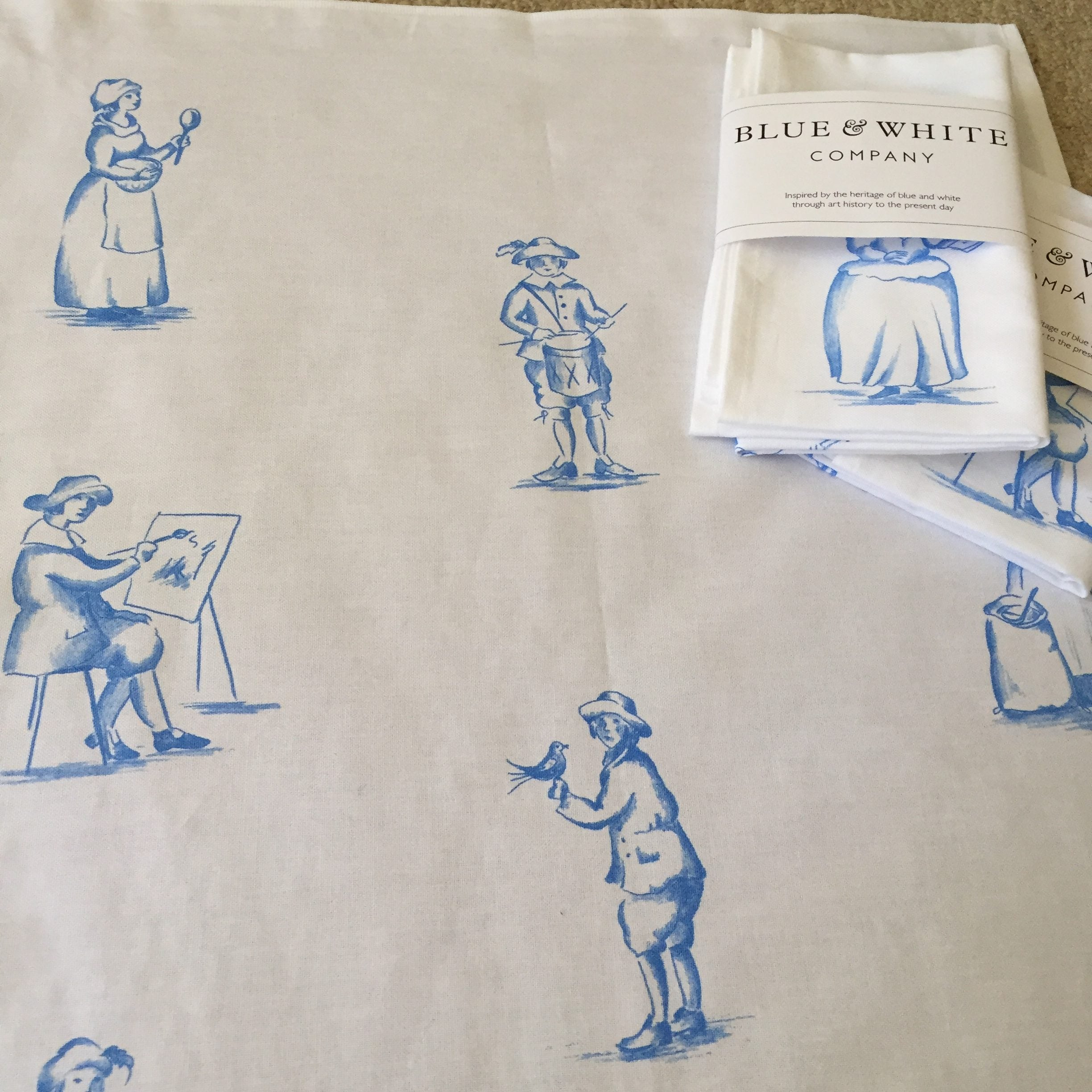 Delft Figure Tea Towel