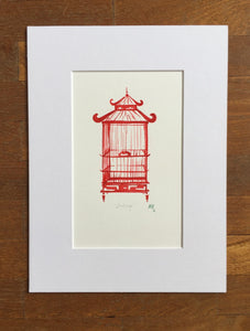Red Birdcage small