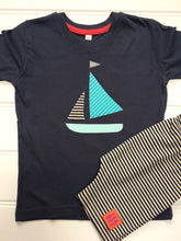 Load image into Gallery viewer, Sailing Boat T-shirt - Blue