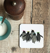 Load image into Gallery viewer, COASTER - Square - Rockhopper Penguin Group of Five