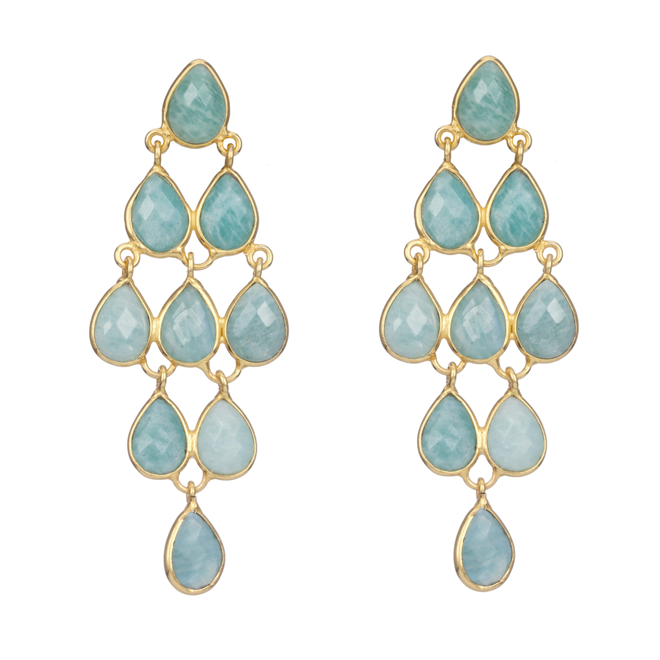 Bellatrix Earrings Amazonite