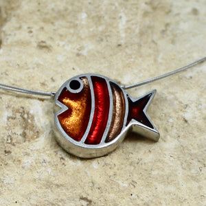 Bubble Fish Pendant - Apricot