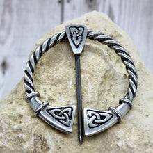 Load image into Gallery viewer, Large Celtic Cloak pin or  Pennanular Brooch
