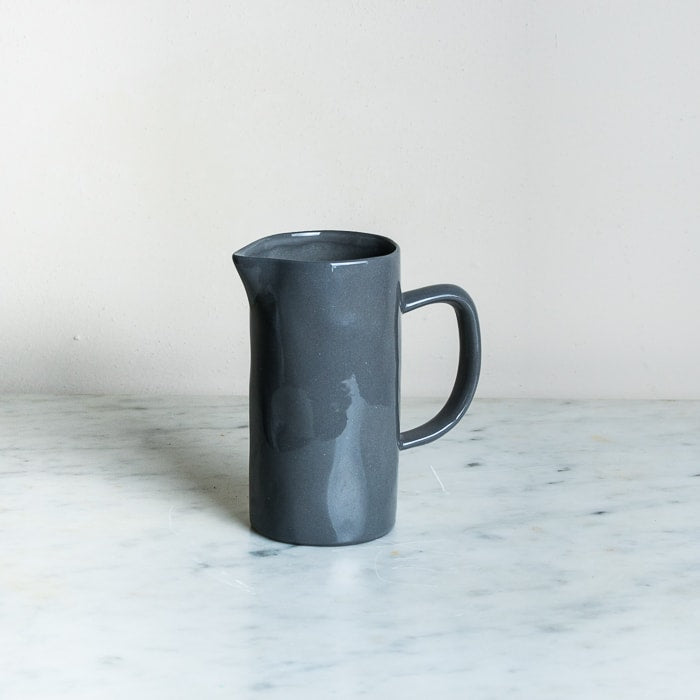Small Charcoal Ceramic Jug