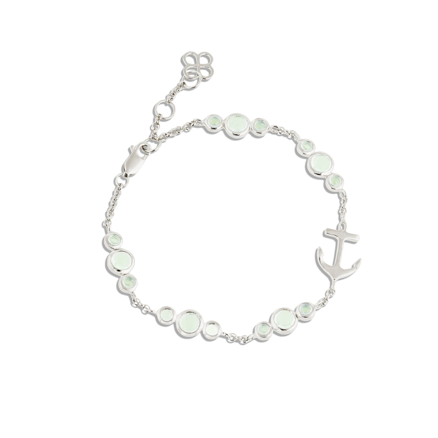 CLEMENT TRINITY BRACELET WITH GREEN AMETHYST